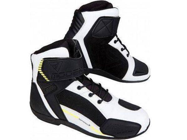 Modeka kyne (fehér-fekete) férfi motoros cipő